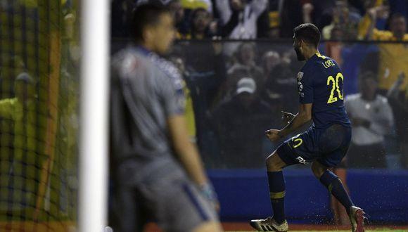 Boca Juniors se clasificó a los octavos de final de la Copa Libertadores al ganarle al brasileño Athletico Paranaense por 2-1, en un partido por la sexta y última fecha del Grupo G jugado en la Bombonera. (Foto: AFP)
