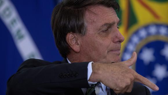 Imagen de archivo. Jair Bolsonaro, presidente de Brasil, en plena conferencia de prensa. EFE