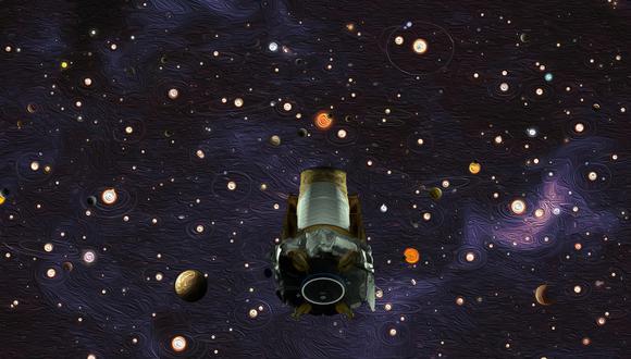 Representación artística del Telescopio Kepler, dedicado a la búsqueda de exoplanetas. (Imagen NASA)