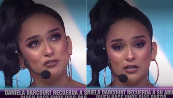 Daniela Darcourt se quiebra al recordar a su abuelito fallecido. (Foto: captura de video)