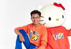 Edward Venero y su colección de ropa de Hello Kitty con motivos peruanos