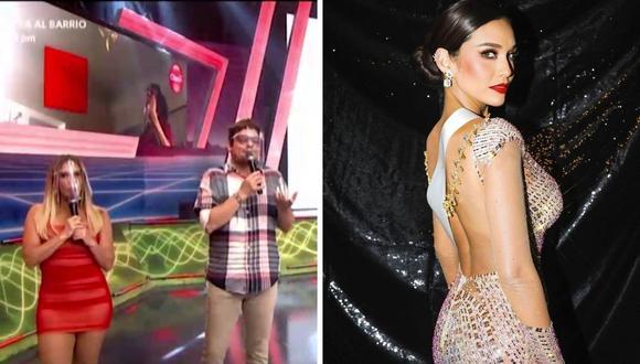 Johanna San Miguel y Gian Piero Díaz agradecieron a Janick Maceta por la emoción del Miss Universo 2021. (Foto: Instagram @janickmaceta / Captura América TV).