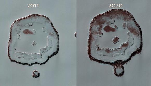 Los cambios se detectaron tras comparar dos imágenes tomadas por la cámara HiRISE de alta resolución. (NASA / JPL / UARIZONA / Europa Press)