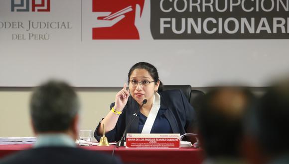 Jueza María de los Ángeles Álvarez Camacho declaró fundado pedido para no incluir a OAS Perú y Cosapi, como investigados. (Foto: Juan Ponce/Archivo El Comercio)
