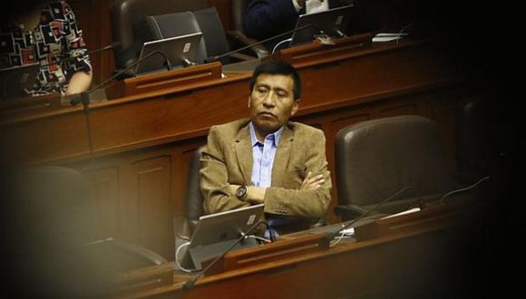 Moisés Mamani fue suspendido 120 días sin goce de haber por el pleno del Congreso. (Foto: GEC)