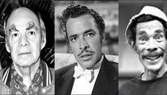 En la fotografía aparecen 'El Loco' Valdés, Tin Tan y don Ramón, tres miembros de este clan (Foto: Roberto Gomez Fernán / Twitter)