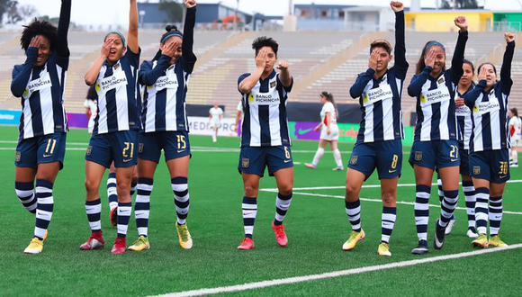 El equipo femenino blanquiazul goleó 7-0 a UTC este domingo en San Marcos y es líder invicto. (Foto: Alianza Lima)