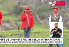 Perú recibe sello internacional que lo certifica como destino turístico seguro ante COVID-19