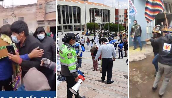 Candidatos de diferentes tiendas políticas dejan de lado los protocolos (Fotos: GEC).