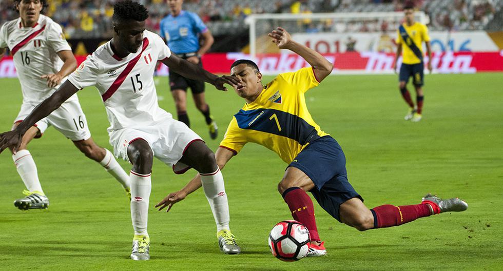 Perú empató 2-2 contra Ecuador, el 8 de junio de 2016, por la Copa América Centenario en Estados Unidos. (Foto: EFE)