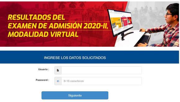 Resultados examen de admisión Universidad San Marcos 2020 - ii