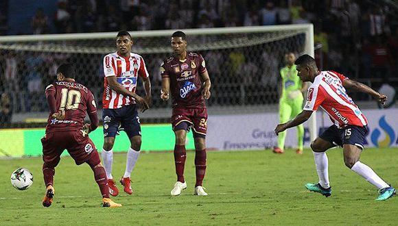 Junior logró una gran victoria en su vista a Tolima. El 'Tiburón' ganó 2-0 en el duelo por la primera fecha de la Liga Águila de Colombia en el Estadio Manuel Murillo Toro de Ibagué. (Foto: Gol Caracol).