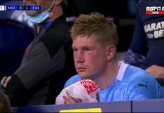 De Bruyne terminó con el ojo morado tras fuerte choque en la final de la Champions League | VIDEO