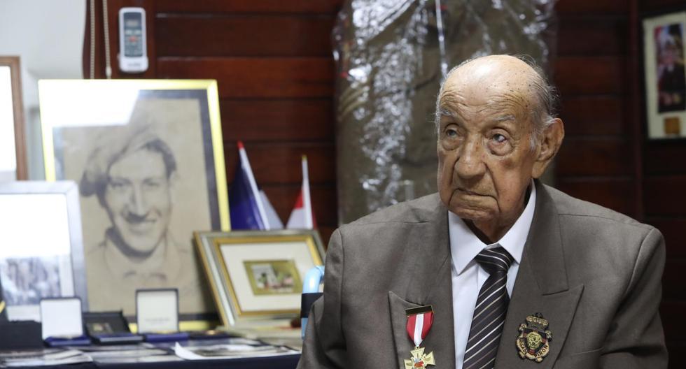 A los 103 años falleció don Jorge Sanjinez, veterano miembro de la Brigada Pirón que participó del Desembarco de Normandía. Este es un sentido homenaje a su historia. (Foto: Rolly Reyna / El Comercio)