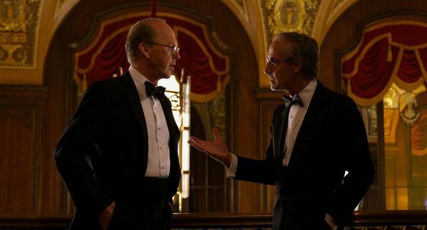 Michael Keaton as Kenneth Feinberg and Stanley Tucci as Charles Wolf.  (Photo: Monika Lek / Netflix)