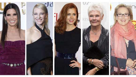 Sandra Bullock, Cate Blanchett, Amy Adams, Judi Dench y Meryl Streep. (Foto: Agencias)