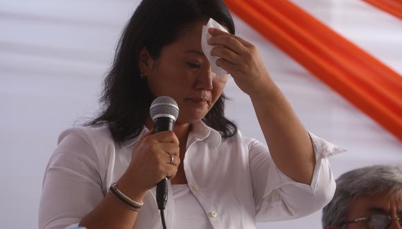 Keiko Fujimori afronta un pedido de 30 años de prisión por el Caso Odebrecht y a pocos días de las Elecciones 2021. (Foto: Yodashira Pérez Tarazona / GEC)
