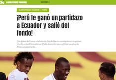 """""""Ganó un partidazo a Ecuador"""": las reacciones de la prensa internacional tras victoria de Perú [FOTOS]"""