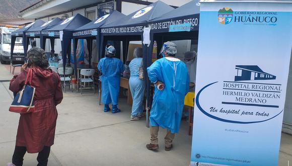 En Huánuco, 20.700 personas han sido infectadas con el coronavirus y 499 han muerto a causa de esta enfermedad, según la Sala situacional del Ministerio de Salud. (Foto: Gobierno Regional de Huánuco)