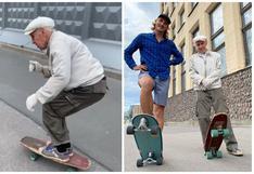 La historia de Igor, el abuelo de 73 años que monta al skate por las calles de San Petersburgo