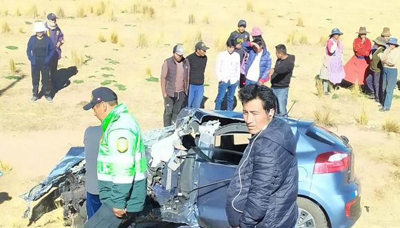 El accidente ocurrió la tarde de ayer a la altura de la comunidad campesina Punta Sahuacasi, ubicada en la provincia de Azángaro. (Foto: cortesía)