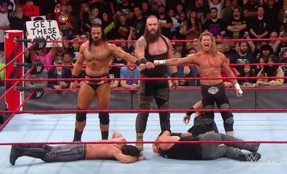 The Shield fue abatido por el tridente de Braun Strowman, Dolph Ziggler y Drew McIntyre | Foto: wwe