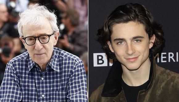 Woody Allen y Timothée Chalamet. (Fotos: Agencias)