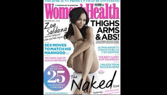 Zoe Saldaña posó desnuda para una revista británica