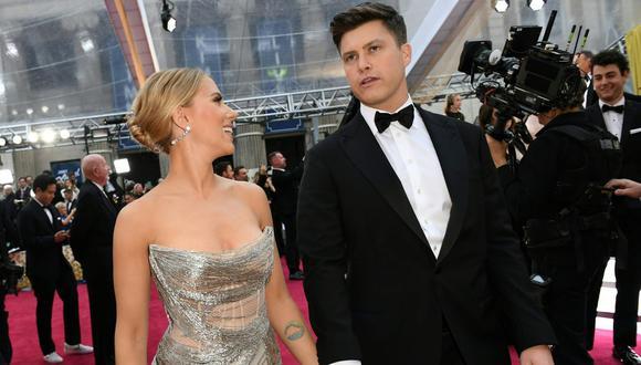 Scarlett Johansson y Colin Jost mantuvieron un noviazgo de dos y se comprometieron en el 2019. (Foto: Valerie Macon / AFP)