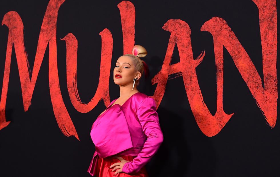 """Christina Aguilera ha regresado a la familia de """"Mulán"""" para componer la canción oficial de la cinta live action, que se estrenará el 26 de marzo en Perú. (Foto: AFP)"""