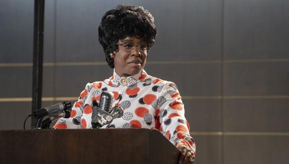 Uzo Aduba interpreta a Shirley  Chisholm, la primera mujer de descendencia afroamericana electa para el congreso estadounidense y también en postularse para presidente. (Foto: Fox Premium).