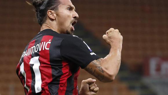 Zlatan Ibrahimovic firmó un doblete en el Inter vs. Milan de la Serie A. (Foto: AP)