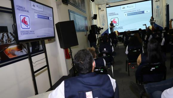 """El jefe de la ONPE calificó como """"un éxito rotundo"""" las elecciones internas dado el plazo y el presupuesto con el que contaron para organizarlas en medio de la pandemia de COVID-19.(Foto: Eduardo Cavero/ @photo.gec)"""