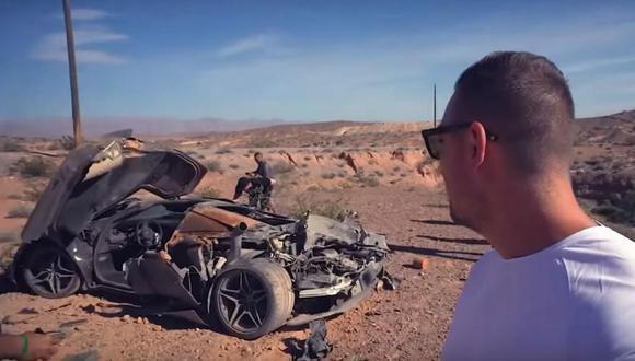 La policía de Nevada aún mantiene varias dudas sobre lo ocurrido con este McLaren 720S y el misterioso accidente que lo rodea. (Foto: YouTube).