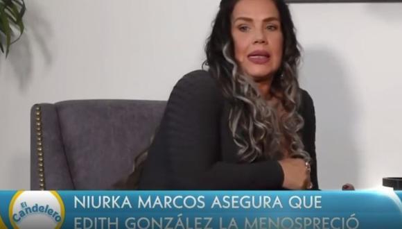Niurka Marcos nuevamente acusa de maltrato y menosprecio a Edith González. (Foto: captura de video)