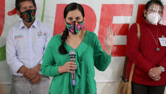 Verónika Mendoza envía oficio al jefe de la ONPE para establecer protocolos frente al COVID-19 durante campaña electoral. (Foto: GEC)