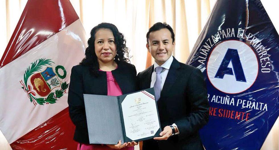 La nueva congresista es Luz Cruz Tévez, de Alianza Para el Progreso. (Foto: Difusión)