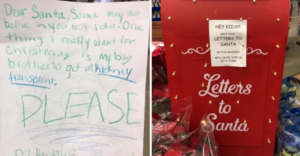 Una niña decidió dejar una carta dirigida a Papá Noel y le pide ayuda para su hermanito enfermo. (Foto: Facebook)