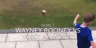 Niño recrea los mejores goles de la historia del fútbol desde el jardín de su casa