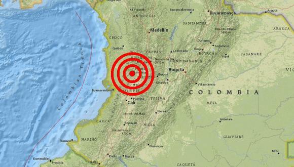 Colombia: Terremoto de magnitud 6,1 sacude zona oeste del país. (Captura)