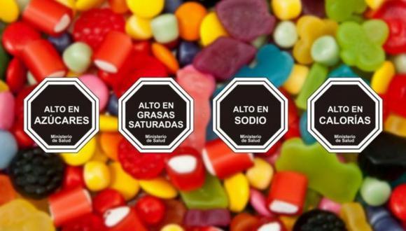 Los octógonos que se incluirán en el empaque de alimentos. (Foto: archivo)