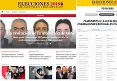 Elecciones 2018: todo lo que necesitas saber sobre los candidatos en El Comercio