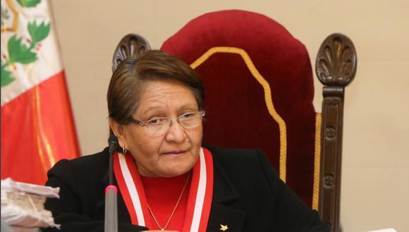 Jueza suprema Mariem de la Rosa, jefa de la Oficina de Control de la Magistratura (Foto: Andina)