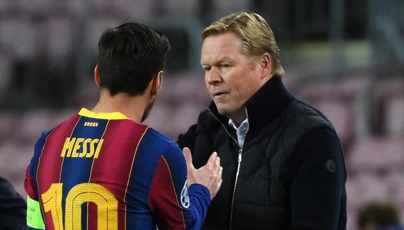 Koeman se mostró a favor de la permanencia de Messi y Ramos en LaLiga. (Foto: AFP)