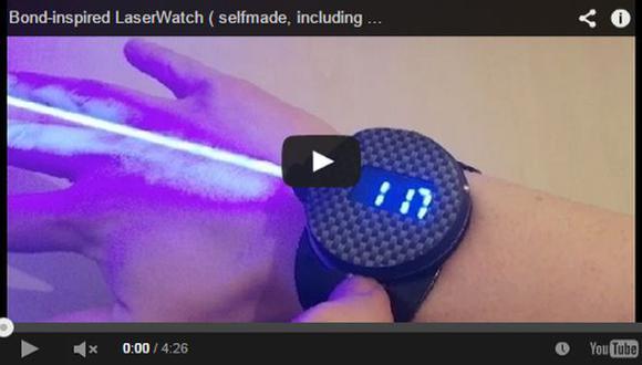 YouTube: crean reloj láser inspirado en James Bond