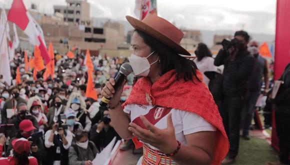 """Keiko Fujimori consideró que Cerrón """"no tiene ningún gesto de sensibilidad"""". (Foto: Leandro Britto / @photo.gec)"""