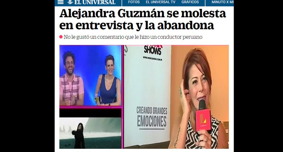 Percance de Alejandra Guzmán y Peluchín llega a prensa mexicana - 1