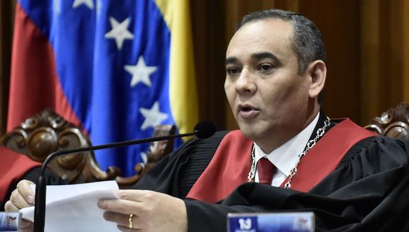 Tribunal Supremo de Justicia (TSJ) de Venezuela desconoce a Juan Guaidó, presidente de la Asamblea Nacional. En la imagen, Maikel Moreno, presidente del TSJ. (Bloomberg).