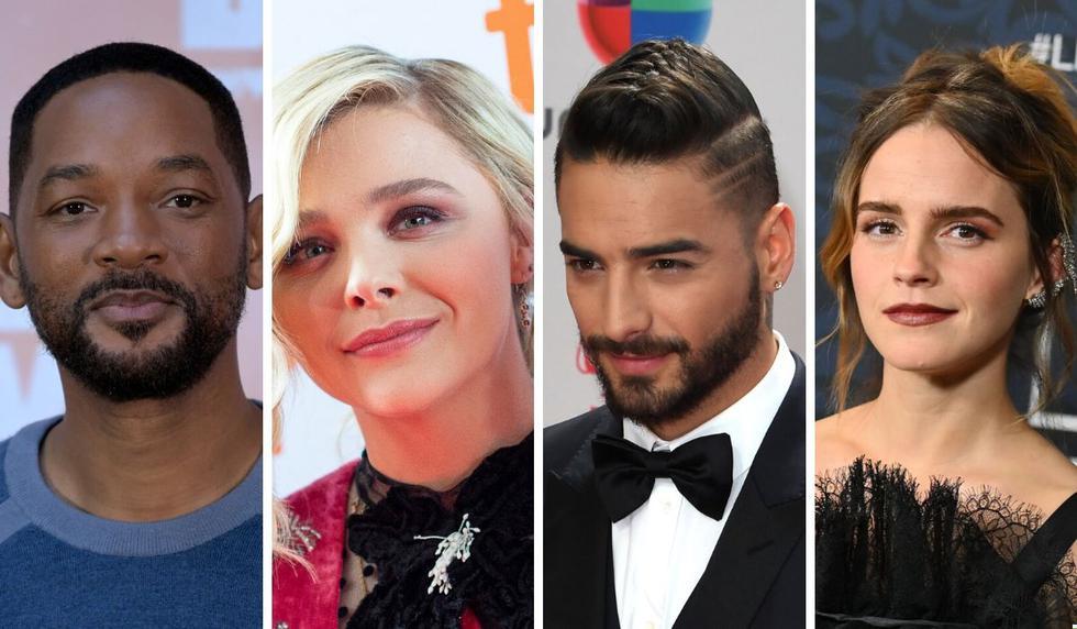 Will Smith, Chloë Grace Moretz, Maluma, Emma Watson fueron algunos de los famosos que se manifestaron en las redes. (Fotos: AFP)