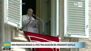 Papa Francisco bendice al Perú tras toma de mando de Pedro Castillo